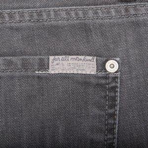 7 For All Mankind Grey Standard Straight Leg Jean